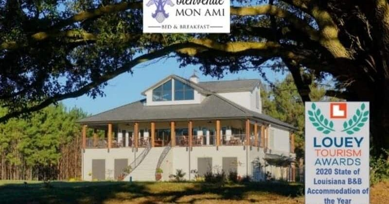 2020 LOUEY AWARD ACCOMMODATION WINNER, Louisiana Bed and Breakfast Association