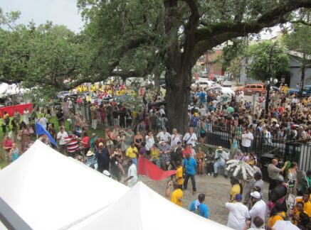 Crowd at Sachmo Superfest in New Orleans