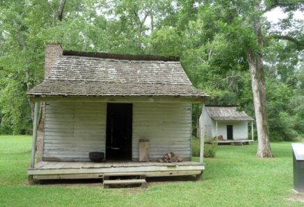 Slave cabin at Oakley Plantation